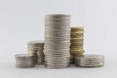 Piles des pièces de monnaie Photo libre de droits
