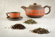 Piles of different tea Royalty Free Stock Image