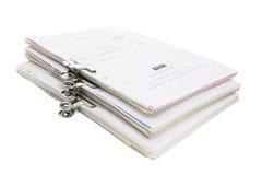 piles documents d'affaires Photographie stock libre de droits