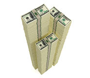 Piles of 100 Dollar bills Royalty Free Stock Photography