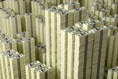 Piles of Dollar bills Royalty Free Stock Photo