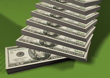 Piles of dollars Royalty Free Stock Photography