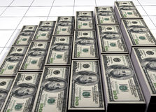 Piles of dollars. 3d render Royalty Free Stock Photography