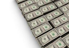 Piles du dollar Photo libre de droits