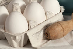 Piles of eggs Stock Image