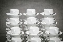 The pile of tea cups Royalty Free Stock Image