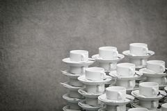 The pile of tea cups Stock Photography