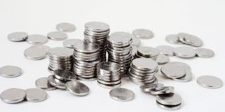 piles en métal de pièce de monnaie Images stock