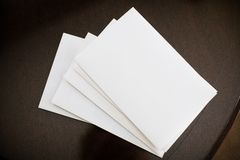 Piles of envelopes Royalty Free Stock Image