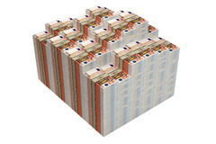 Piles of 50 Euro banknotes Royalty Free Stock Photo