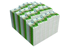 Piles of 100 Euro banknotes Royalty Free Stock Image