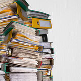 Piles of file binder with documents Stock Image
