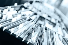 Piles of files Stock Photos