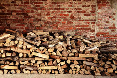 Piles of fire wood - energy concept.  Royalty Free Stock Image