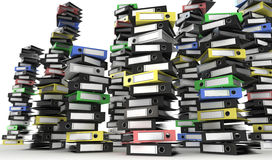 Piles of folders. Piles of colored folders archive Royalty Free Stock Image