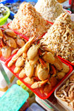 Piles of fresh crab claw meat Stock Photo
