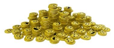 Piles heureuses de pièce de monnaie de visage illustration stock