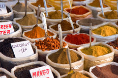 Piles of Indian powder spices Stock Photos