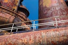Piles industrielles 2 d'acier Photographie stock