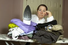 Piles of Ironing Stock Photo