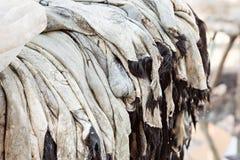Piles of leather medina Marrakech Stock Photo