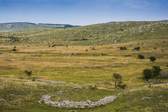 Piles of limestones in the landscape Stock Photography