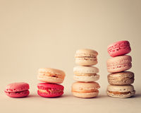 Piles of macaroons Royalty Free Stock Images