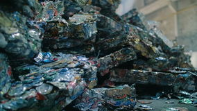 Piles Of Metal Scrap stock video footage