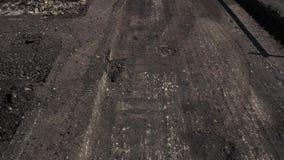 Piles of milled asphalt. stock video