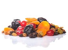 Piles of Mix Dried Fruit I Royalty Free Stock Image