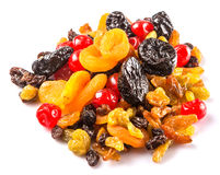 Piles of Mix Dried Fruit II Royalty Free Stock Photos