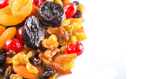 Piles of Mix Dried Fruit IV Royalty Free Stock Images