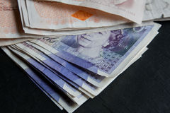 Piles Of Money Royalty Free Stock Photo