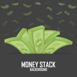 Piles of money stack, cash dollar on white,  illustration Stock Image