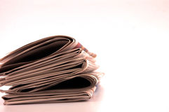 Piles of newspapers Royalty Free Stock Images