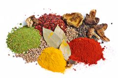 Piles Of Spices Stock Photography