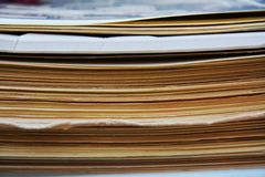 Piles of old magazines Royalty Free Stock Images