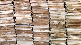 Piles of old papers. Huges piles of old papers. Some of the papers are attached with string royalty free stock photos