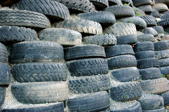 Piles of old tires Royalty Free Stock Photo