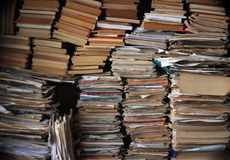 Piles of old trash books and magazines Stock Image