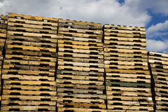 Piles of Pallets Stock Image