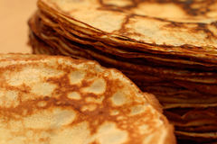 Piles of pancakes Royalty Free Stock Image