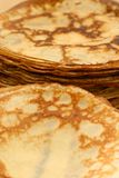 Piles of pancakes. Two piles of the pancakes Royalty Free Stock Photography