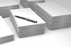 Piles paper Stock Images
