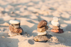 Piles of pebbles Royalty Free Stock Photography