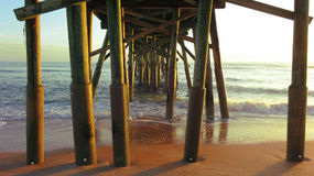 Piles Pier Wood Structure in the Sea Royalty Free Stock Photography