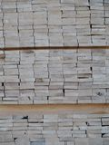 Piles of pine planks stacked for drying Stock Photos