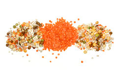 Piles of Pulses Royalty Free Stock Images