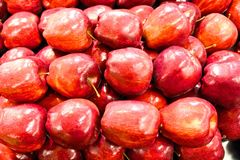 Red delicious apples Stock Photo