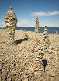 Piles of rocks Stock Photography